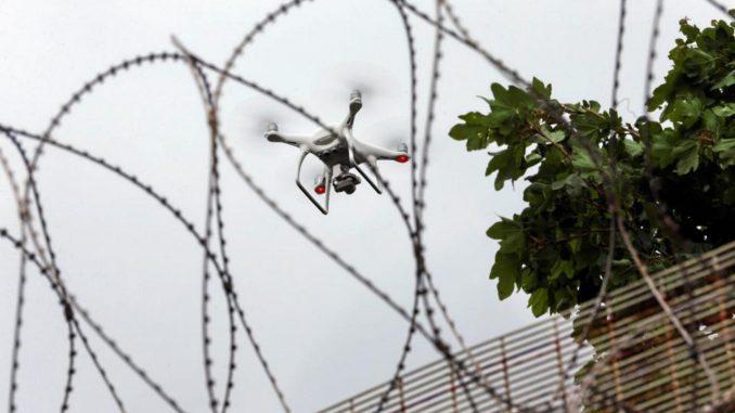 Mos Craciun cu drona la Penitenciarul Bacau