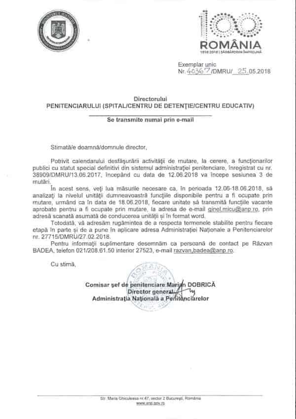 Adresa ANP sesiunea 3 mutari 25052018