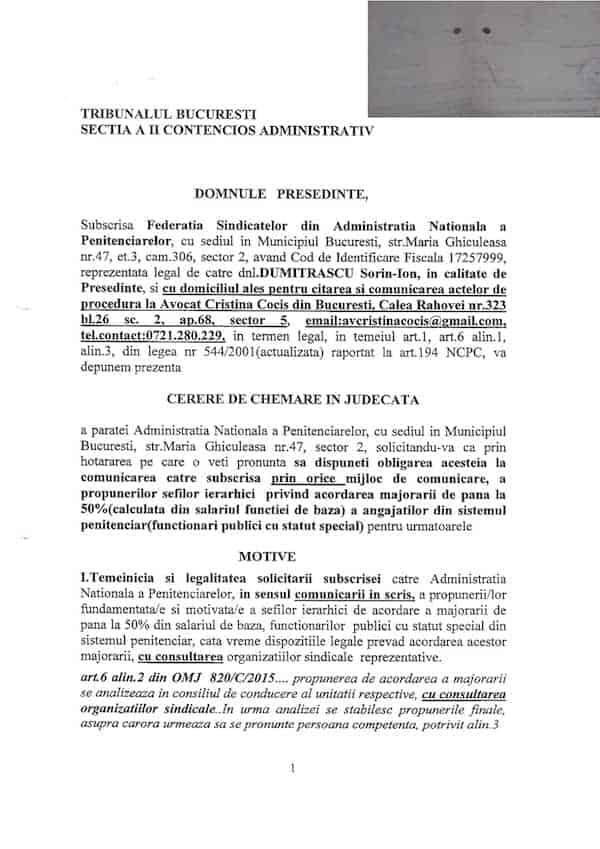Actiune obligare ANP transmitere documente CC ANP propuneri 50%