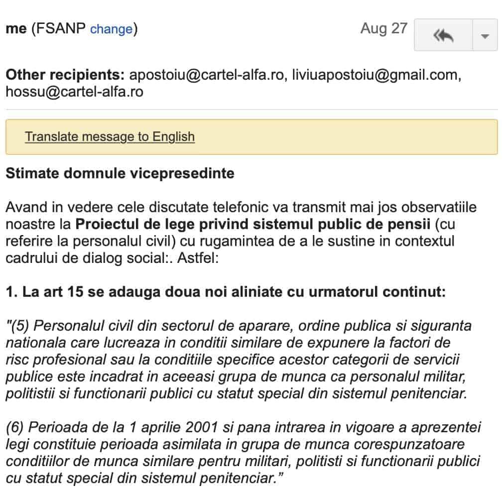 Propunnere FSANP recuperare grupa de munca personal contractual