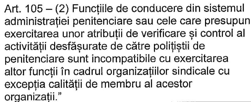 Functiile de conducere si cele de verificare si control incompatibile cu cele de conducere din sindicat