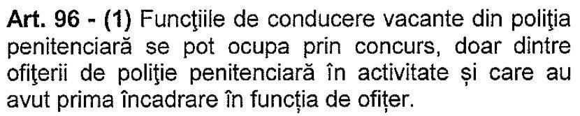Ocupare functii de conducere - ofiteri care la prima numire au fost ofiteri