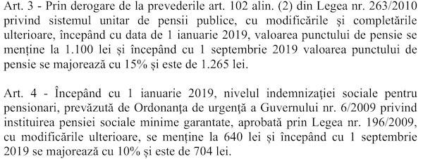 Proiect OUG inghetare salarii 04 decembrie 2018 (pensii)