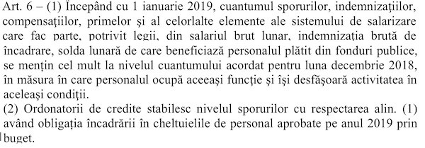 Proiect OUG inghetare salarii 04 decembrie 2018