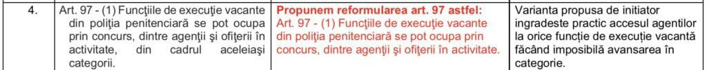 Propuneri FSANP - proiect statut politist de penitenciare 27.11.2018