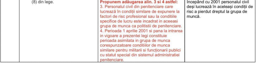Propuneri FSANP - proiect statut politist de penitenciare 27.11.2018.