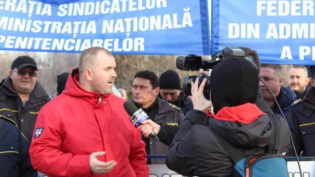 Actiune de protest ale politistilor, personalului din penitenciare si ale rezervistilor militari, Parlamentul Romaniai 08 februarie 2019 (1)