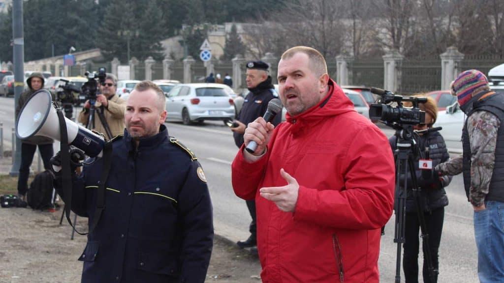 Actiune de protest ale politistilor, personalului din penitenciare si ale rezervistilor militari, Parlamentul Romaniai 08 februarie 2019 (3)