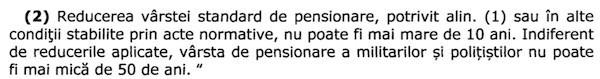 Proiect modificare lege pensii militare (Senat B14_2019) - modificare varsta standard de pensionare