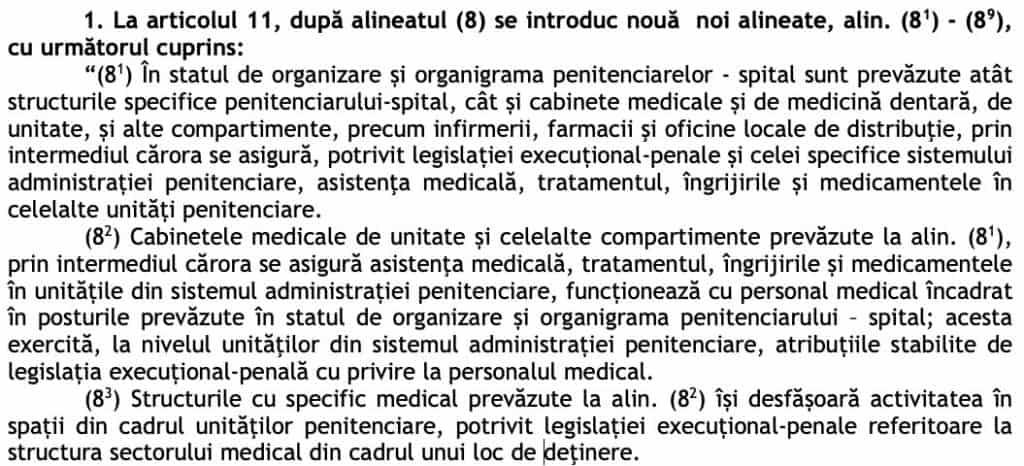 Proiectul de Hotarare pentru modificarea Hotararii Guvernului nr. 756:2016 pentru organizarea, functionarea si atributiile Administratiei Nationale a Penitenciarelor - structura