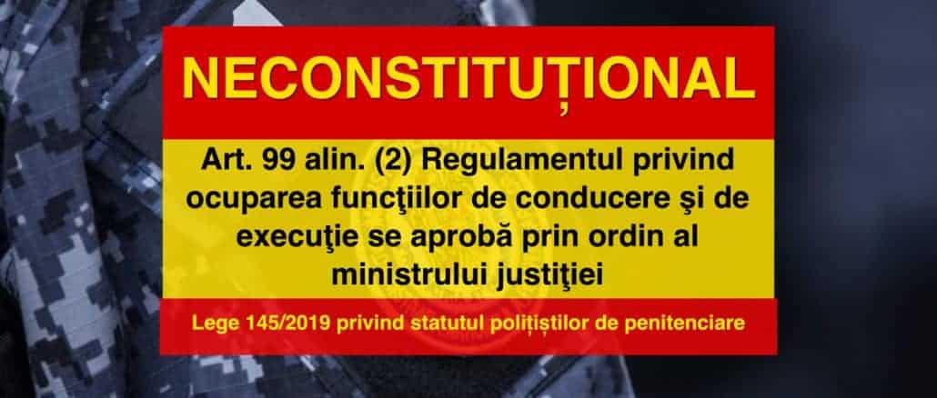 Procedurile de concurs pentru ocuparea funcțiilor vacante din penitenciare, încă neconstituționale